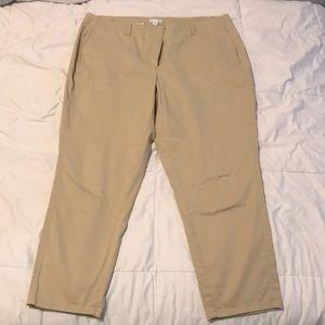 Khaki pixie ankle pants